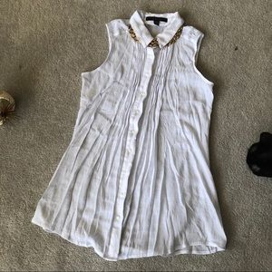 Basic White Sheer Button Up